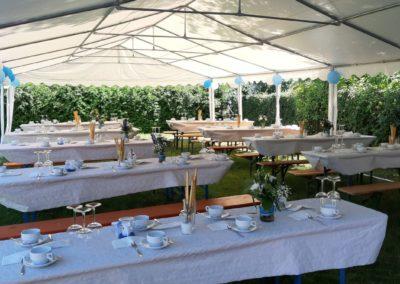 Garten Zelt Hochzeit Detail