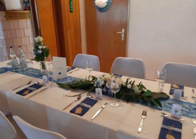 Vereinsheim Hochzeit Detail